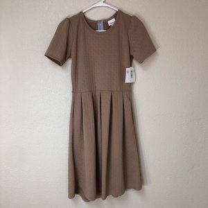 Lularoe Amelia Dress Khaki Size Small NWT!